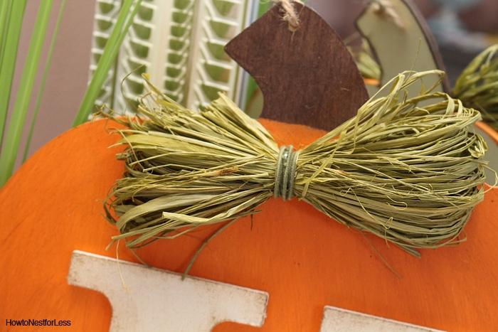 fall DIY monogram pumpkin