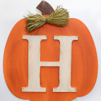 DIY Fall Pumpkin Monogram