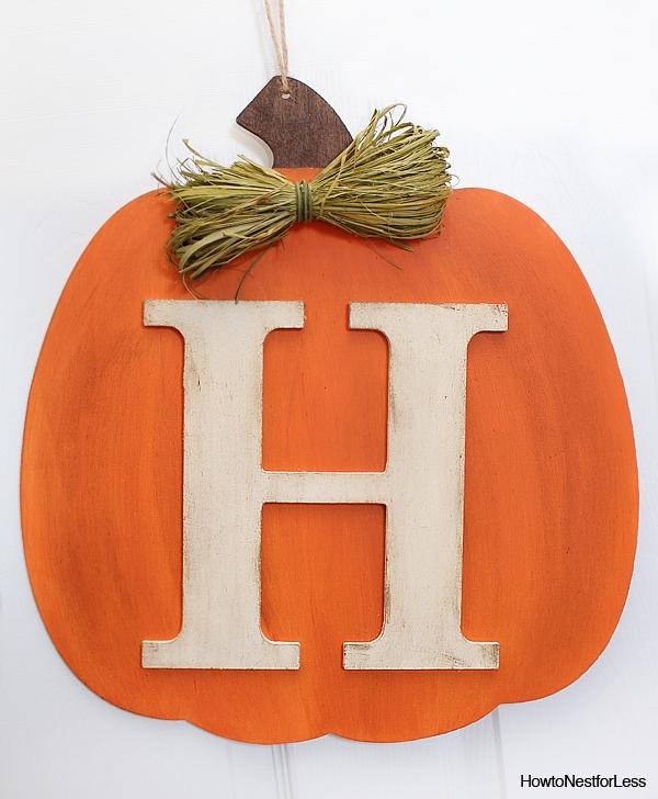 DIY Fall Pumpkin Monogram