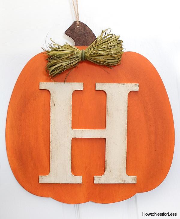 fall monogram pumpkin