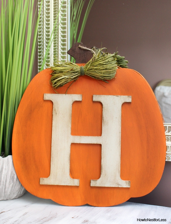 fall pumpkin DIY monogram