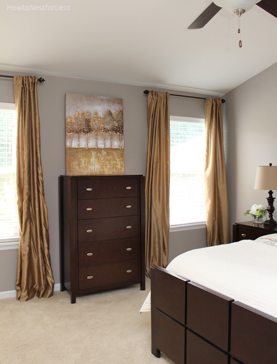 master bedroom gold gray bedroom