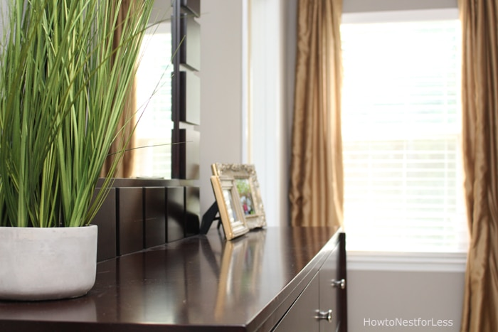 master bedroom gold gray makeover
