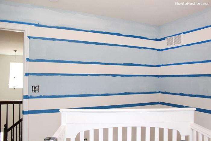 nursery paint horizontal stripes