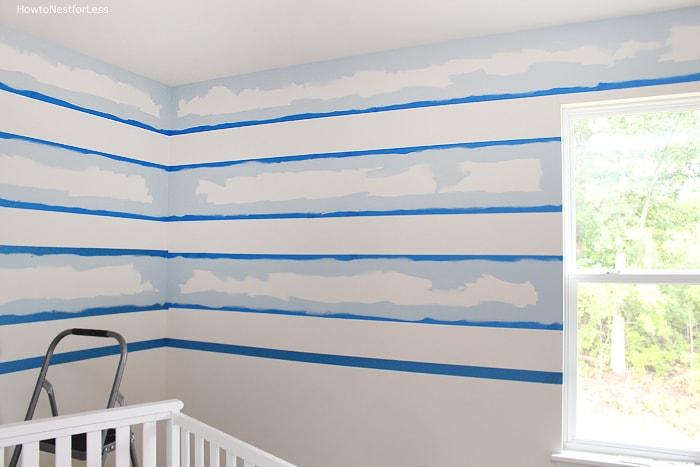 paint horizontal stripes tutorial
