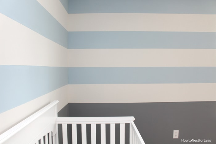 striped blue wall