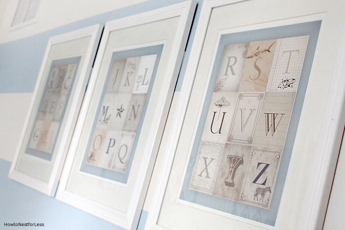 alphabet nursery printable