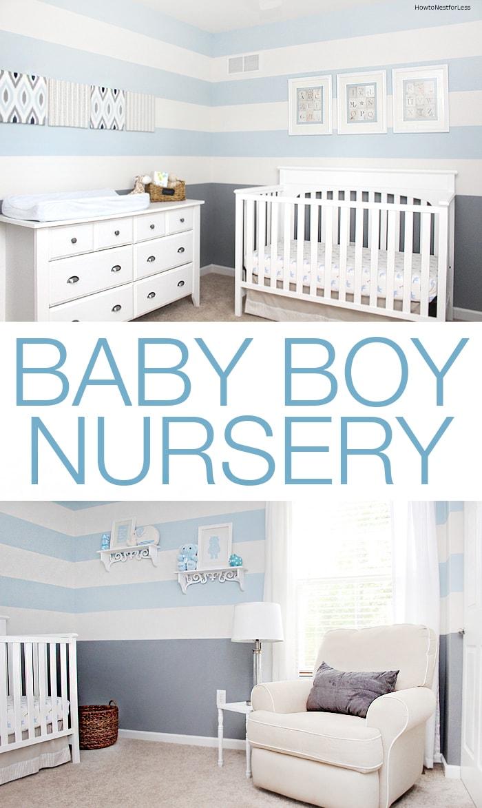 Gray Baby Boy Room Ideas: Baby Boy Striped Nursery