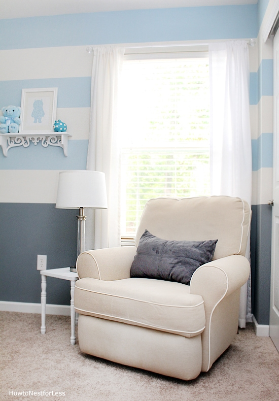 baby boy striped nursery design