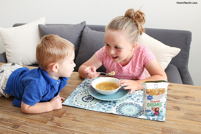 campbells organic soup lunch