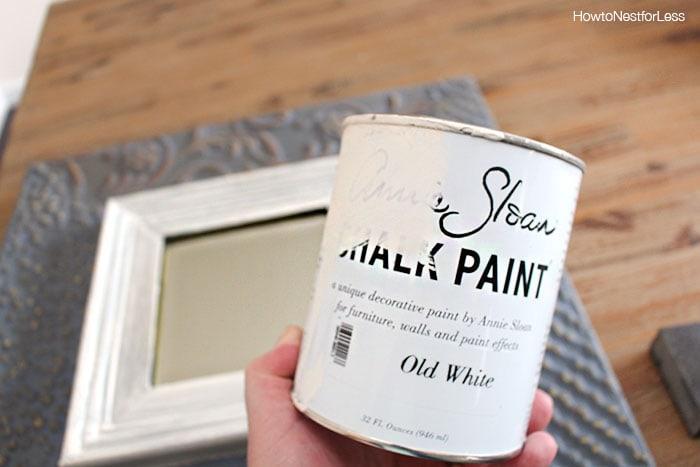 chalk paint DIY wall art