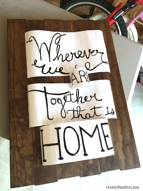 diy vinyl wood sign