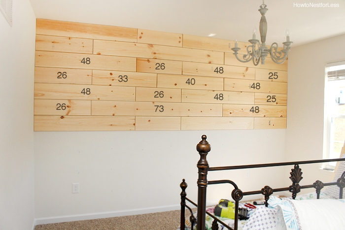 how to build a plank wall