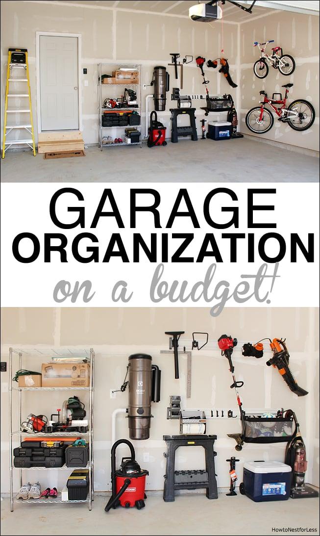 ideas for garage organization on a budget