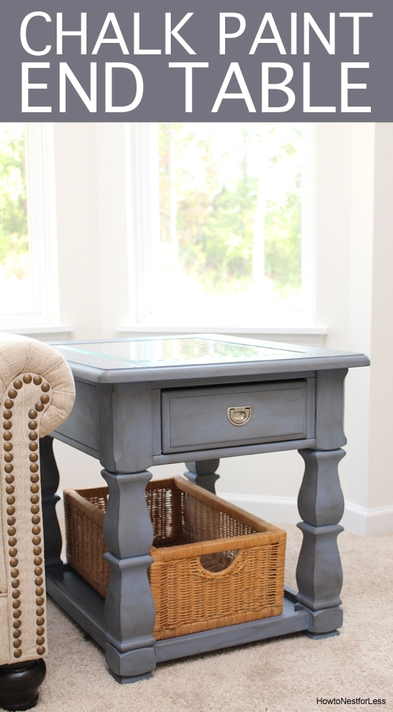 old voilet chalk paint end table