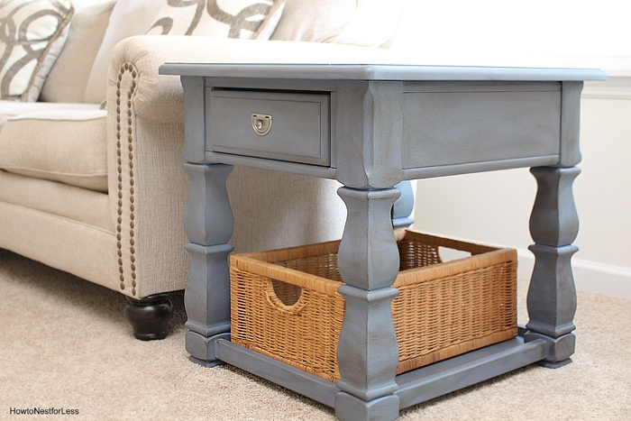 old voilet chalk paint end tables