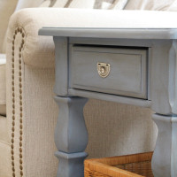 Old Violet Chalk Paint End Table