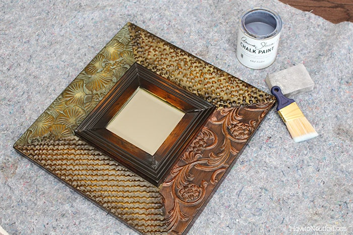 From Trash to Treasure: Chalk Paint Mirror