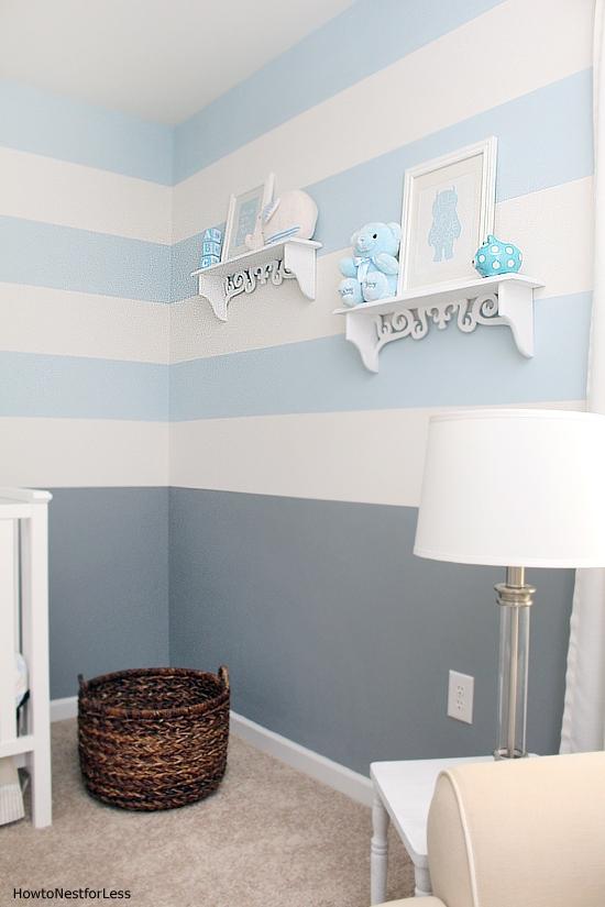 striped baby boy nursery idea