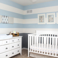 Baby Boy Striped Nursery