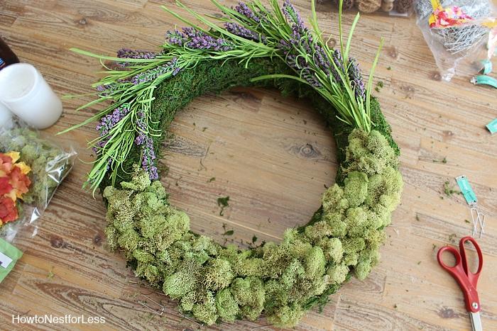 DIY moss fall centerpiece