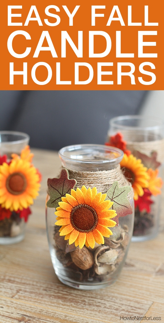 Easy Fall Candle Holders