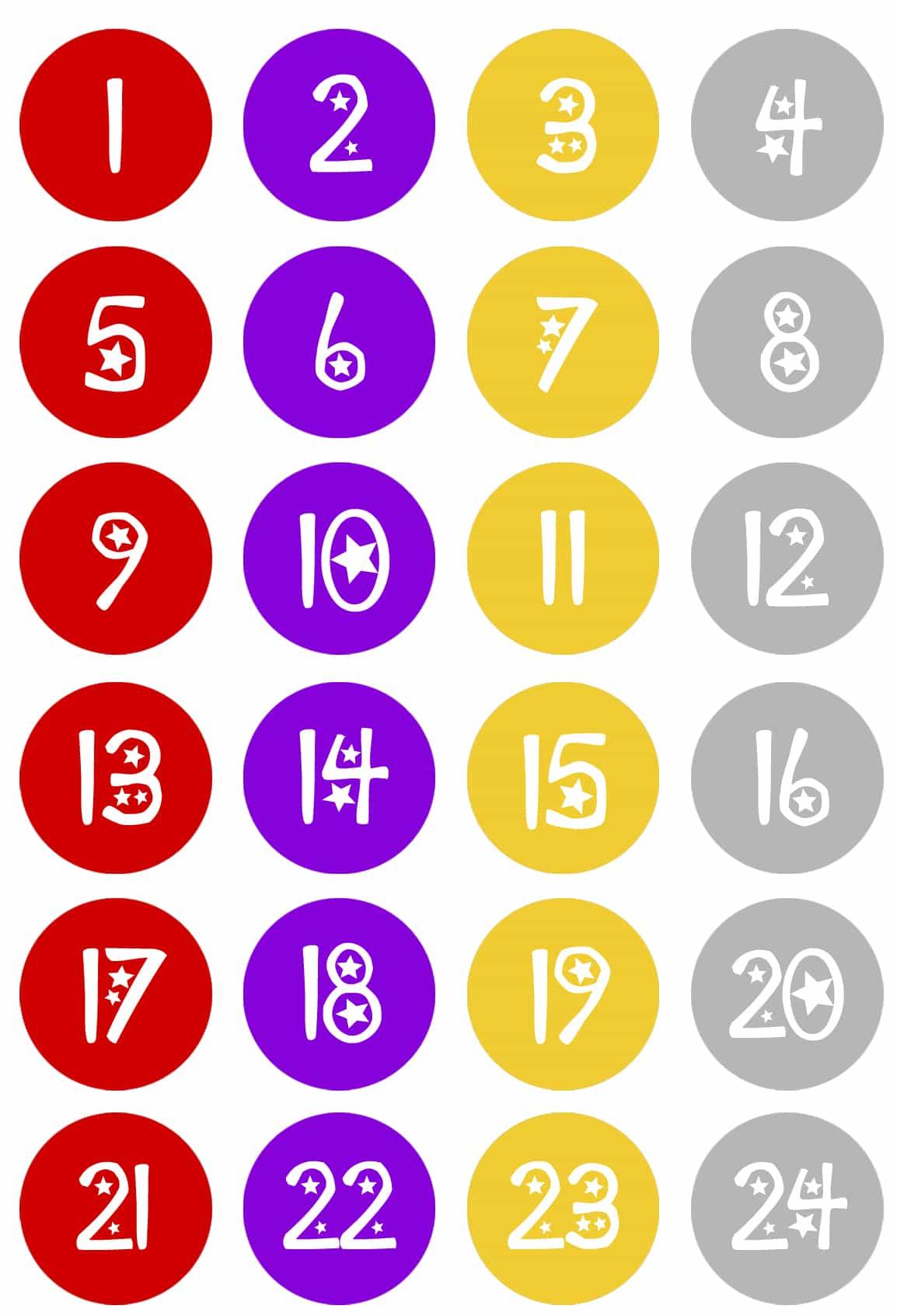 Hersheys christmas calendar countdown numbers