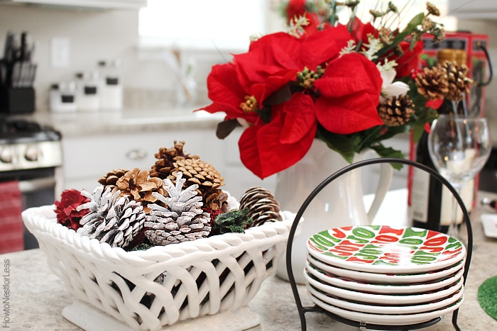 at home christmas kitchen decorations
