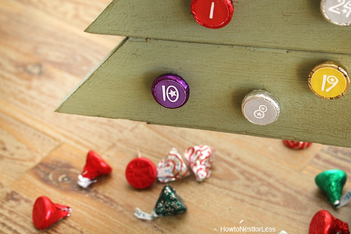 christmas candy countdown calendar