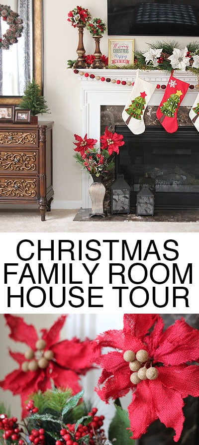christmas family room house tour