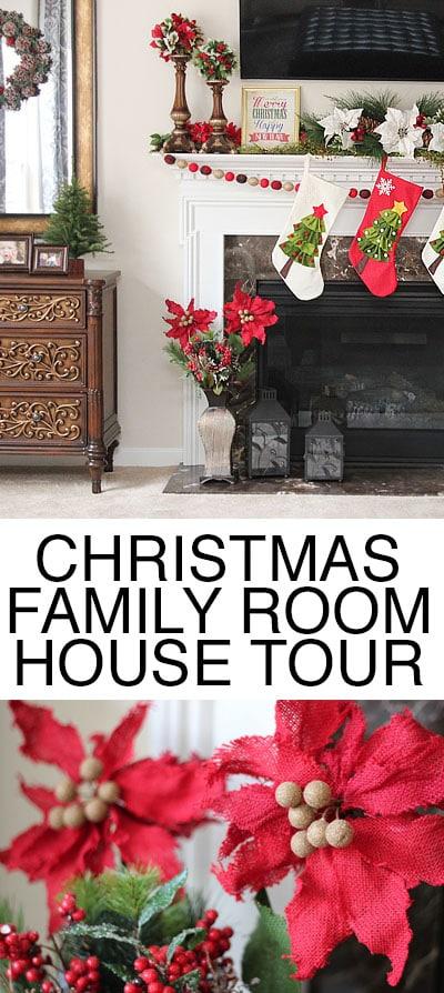 christmas family room house tour
