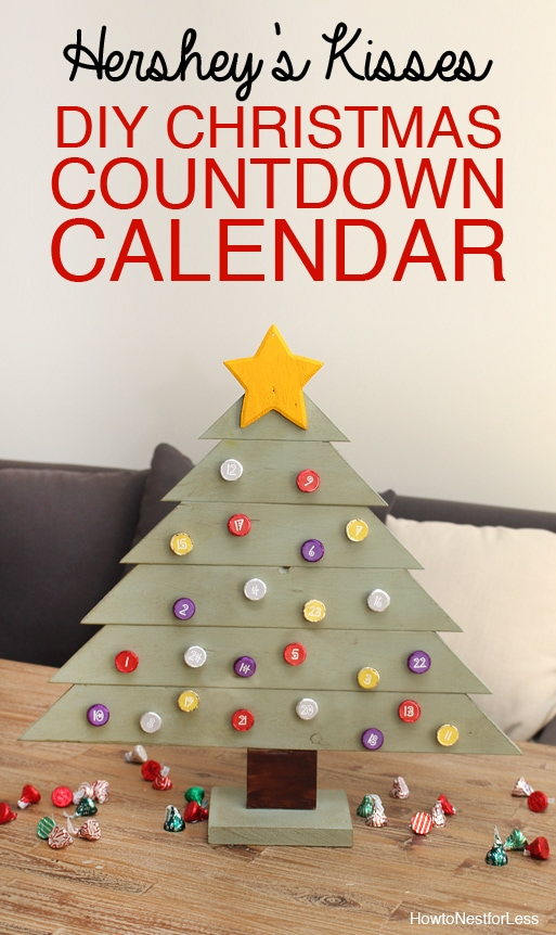Hershey S Kisses Diy Christmas Countdown Calendar How To