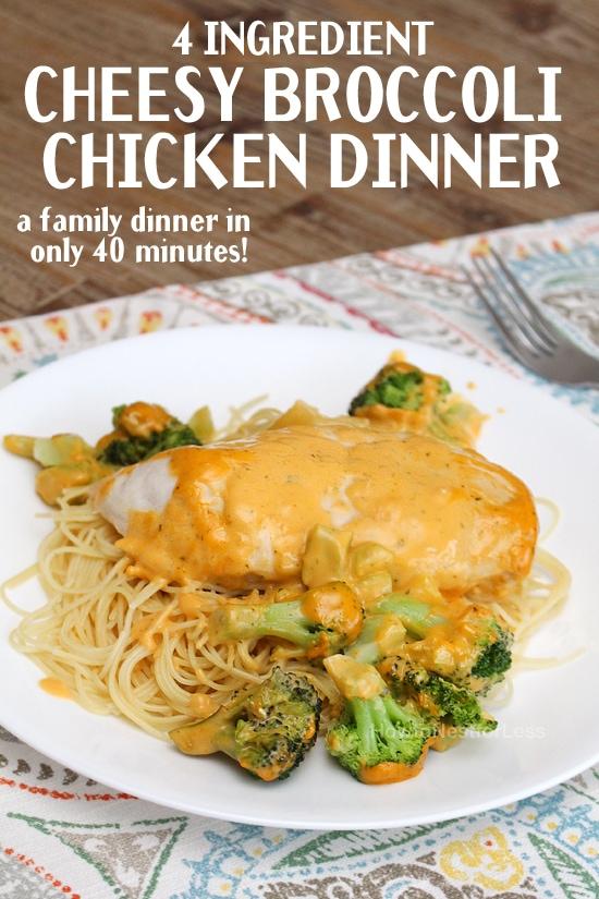 4 Ingredient Broccoli Chicken Dinner