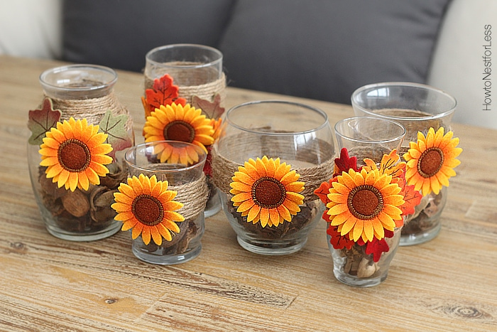 fall candle holder centerpiece