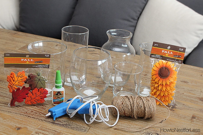 fall candle holder supplies
