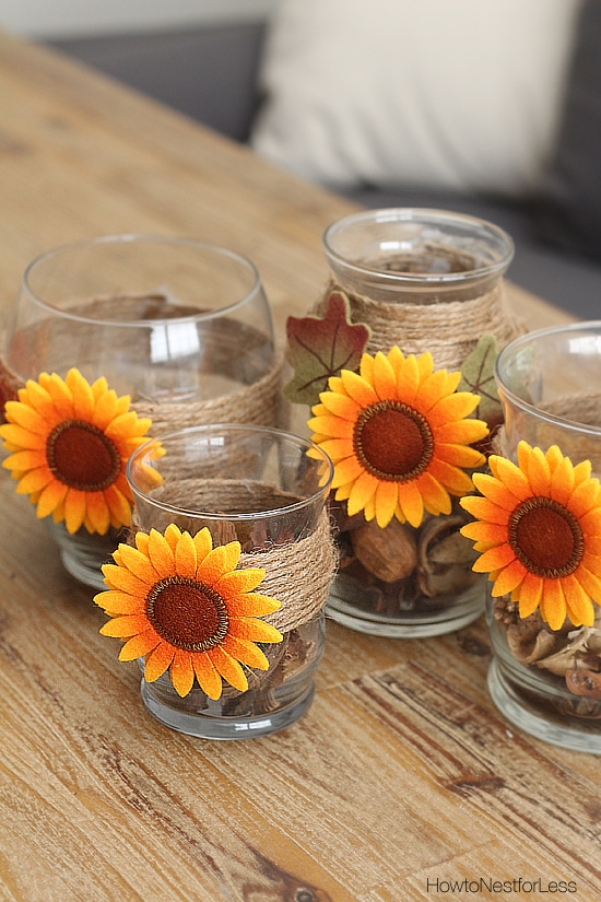 fall candle holders