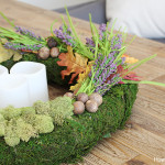 Fall Moss Centerpiece + Wreath