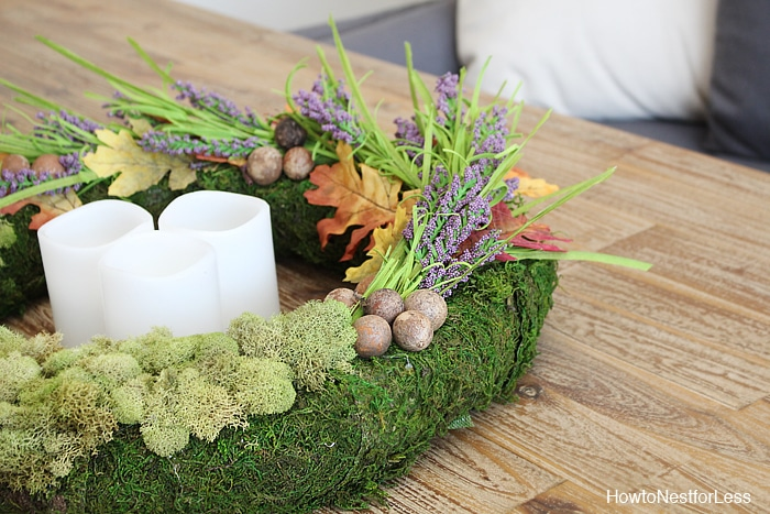fall moss centerpiece