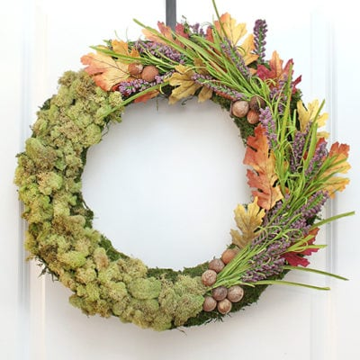 Moss Centerpiece + Wreath