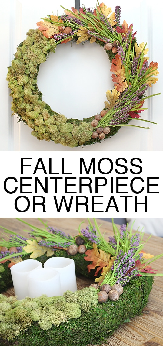 fall moss wreath centerpiece
