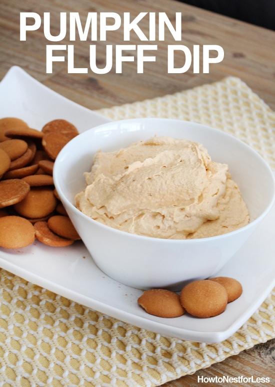 pumpkin fluff dip poster.