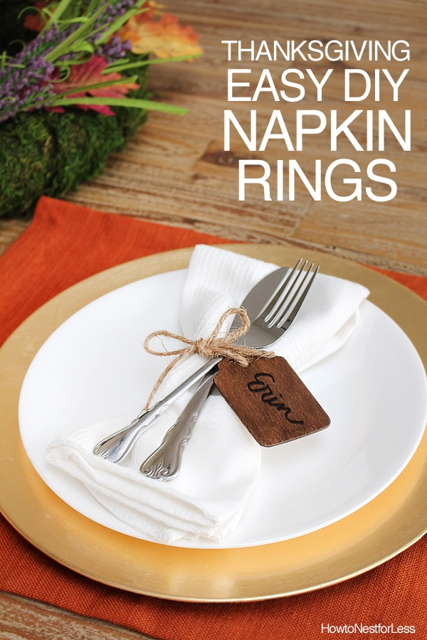 diy thanksgiving napkin rings how to nest for less