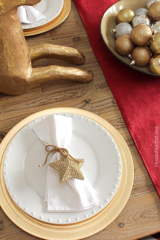 DIY napkin holders christmas