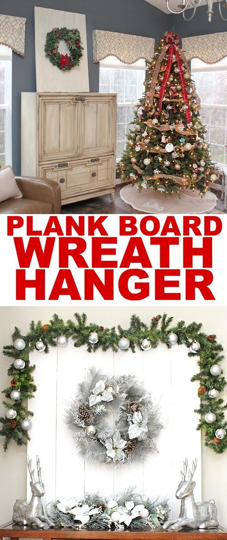 PLANK BOARD WREATH HANGER