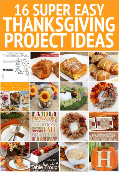 SUPER EASY THANKSGIVING PROJECT IDEAS