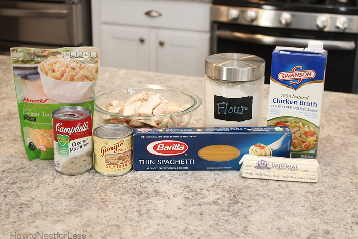 chicken spaghetti bake ingredients