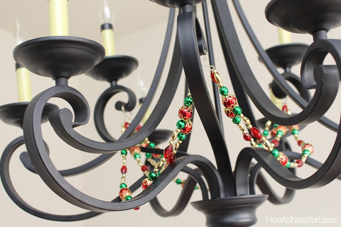 christmas chandelier decor