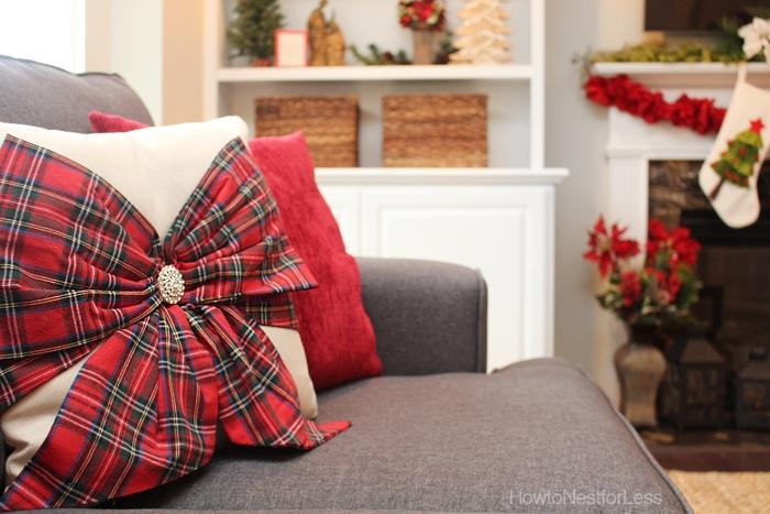 christmas family room decor
