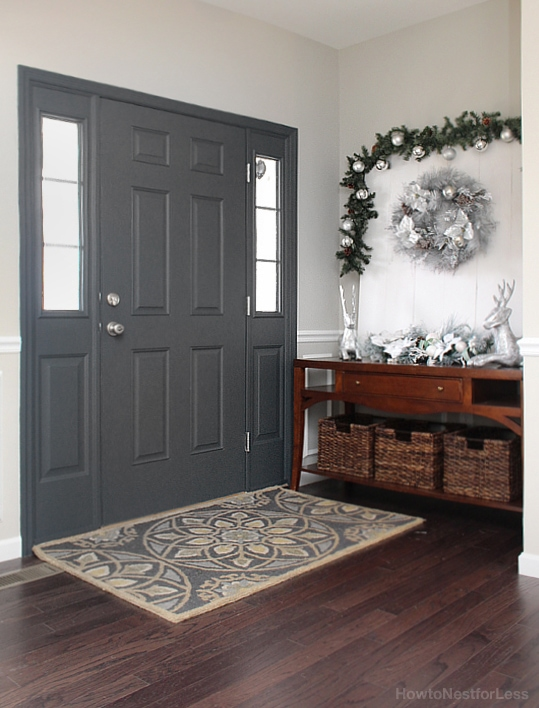 entry foyer painted front door & Painted Interior Front Door + GIVEAWAY - How to Nest for Less™