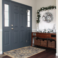 Painted Interior Front Door + GIVEAWAY
